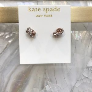 Kate Spade Sailor's Knot Pave Stud Earrings